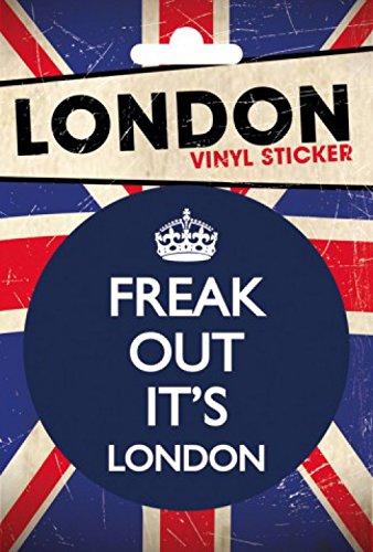 Preisvergleich Produktbild 1art1 London - Freak Out Poster-Sticker Tattoo Aufkleber 15 x 10 cm