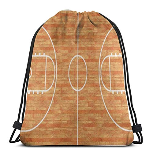 Valender Sportliebhaber Basketballplatz Parkett Sporttasche Wasserfeste Kordelzugtasche Unisex Cinch Sack Rucksack mit großer Kapazität