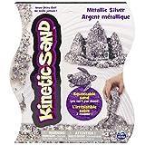 Kinetic Sand, 1 LB Metálico Plata, Color Metallic Silver, (Spin Master 20072634)