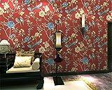 Papel pintado nuevo China Garden Bird Papel pintado no tejido rural Sala de estar americana Dormitorio Venture Capital TV Fondo Papel pintado 3D Pvc 1㎡ Huzi personalizable