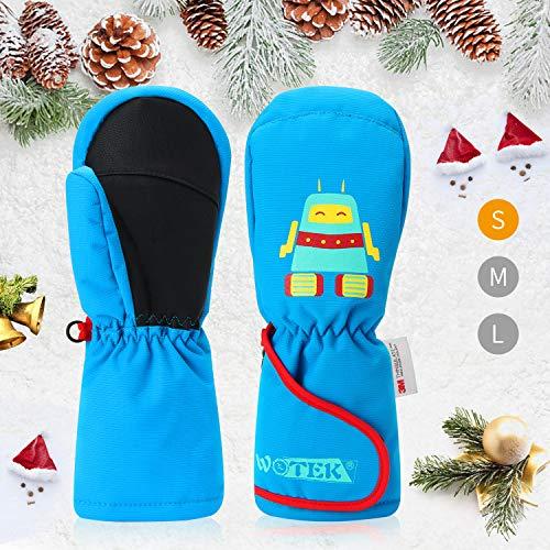 Skihandschuhe Kinder Fäustlinge Warme Kinderhandschuhe wasserdichte und Winddichte Winter Fausthandschuhe Verdickt Kalt Wetter Handschuhe Geeignet für 2-8 Jahre Mädchen und Jungen (S)