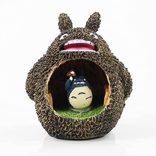 Figura De Totoro con Luz LED para Niños, Figura De Juguete De My Neipor Totoro, Miyazaki Hayao, Modelo De Juguete para Regalo,A