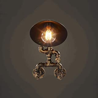 ZHLFDC Retro Industrial Style Pipe Wall Lamp Personality Human Figure Retro Decorative Lighting Wall Sconces Living Room B...