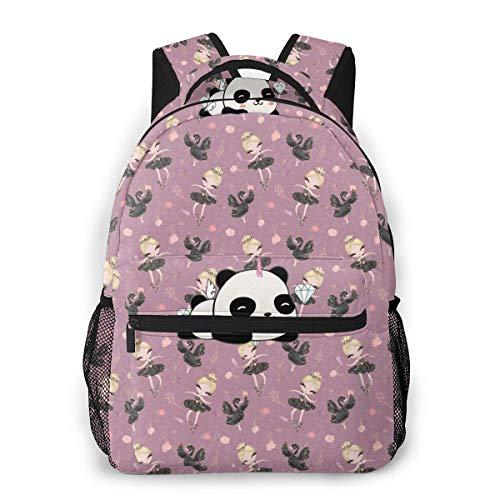 Lawenp Fashion Unisex Backpack Ballet Girl Bookbag Lightweight Laptop Bag for School Travel Outdoor Camping