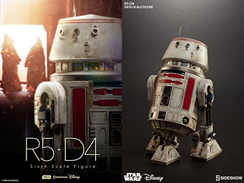 Sideshow Collectibles Maßstab 1: 6 Star Wars Episode IV A New Hope r5-d4 Astro Droid Figur (weiß/rot)
