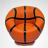 AGVER Kinder-Sofa, Kinderstuhl Sessel Sofa Kinderpolstersessel PU-Leder Material, Für Mädchen-Jungen-Schlafzimmer Spielzimmer Sitzstuhl (Fußball Design),Basketball