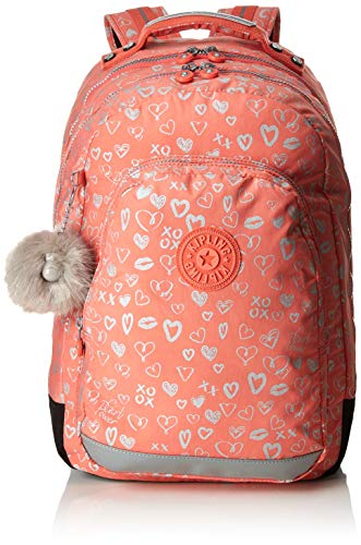Kipling CLASS ROOM Cartable, 43 cm, 28 liters, Multicolore (Hearty Pink Met)