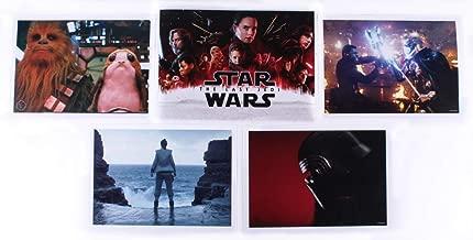 Star Wars: The Last Jedi Set of (4) Exclusive Disney Limited Edition 14x10 Lithographs with Original Portfolio 2018 Disney Store Exclusive Commemorative Set