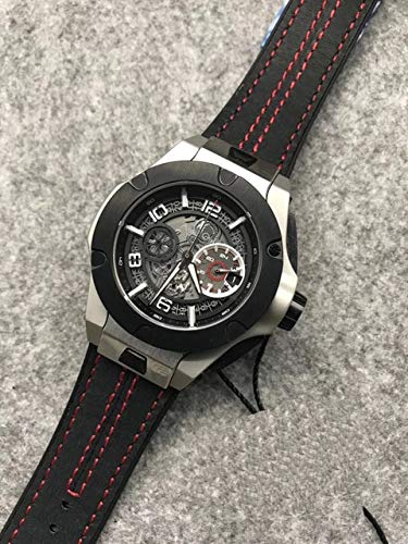 PENGDDP Relojes Luxury Brand Men Watches Stainless Steel Rose Gold Silver Red Line Black Leather Luminous Chronograph Sapphire Waterproof10
