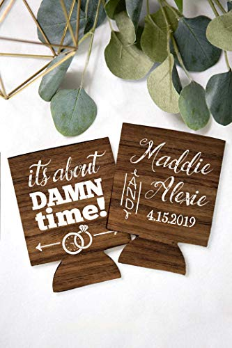 Custom Personalized Wedding Can Coolers Stubby Holders Wedding Favors Reception Favors for Guests