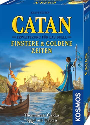 CATAN – Erweiterung für Das Duell – Finstere & Goldene Zeiten, Themensets für das Spiel mit Karten, Strategiespiel, Kartenspiel nur zusammen mit CATAN - Das Duell spielbar, für 2 Spieler ab 10 Jahre