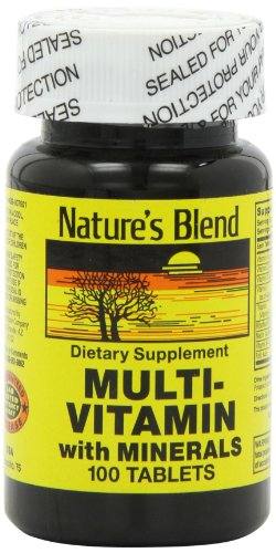 Nature's Blend NAT B MULTIVITAMIN & MIN TB, Assorted, 100 Count