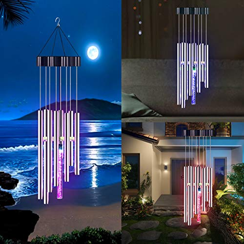 Kearui Solar Wind Chimes Light, Color-Changing Wind Chimes Outdoor, for Christmas Home Decor Gift, Patio Lights for Yard Housewarming Home Party Garden Decoration