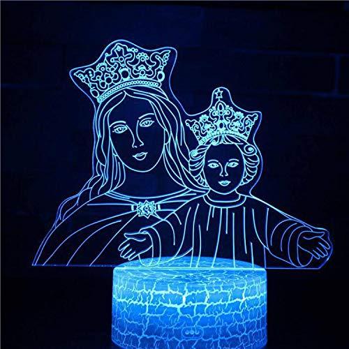 Engel Jungfrau Maria Jesus Christus Kreuz Buddha Weihnachtsdekoration Nachtlicht Kinder Geschenkzimmer Kinder Geschenk Party Tischlampe Kinder Geschenk