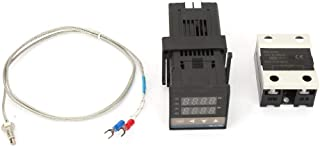 Zestaw regulatora temperatury, 0 – 1300 ℃ AC 110 V-240 V LED alarm PID cyfrowy regulator temperatury z termoelementem/czuj...