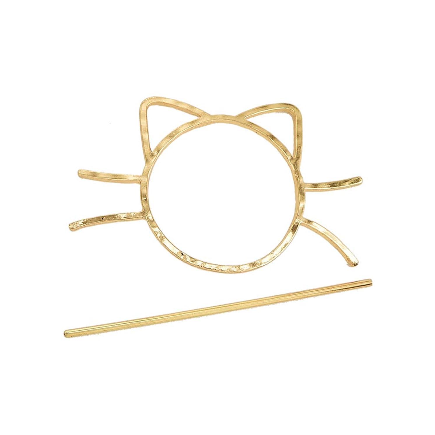 モンスター前提真向こうBeaupretty 猫ヘアスティックピン合金ヘア箸ヘアアクセサリーファッションヘアクリップ用女性女の子