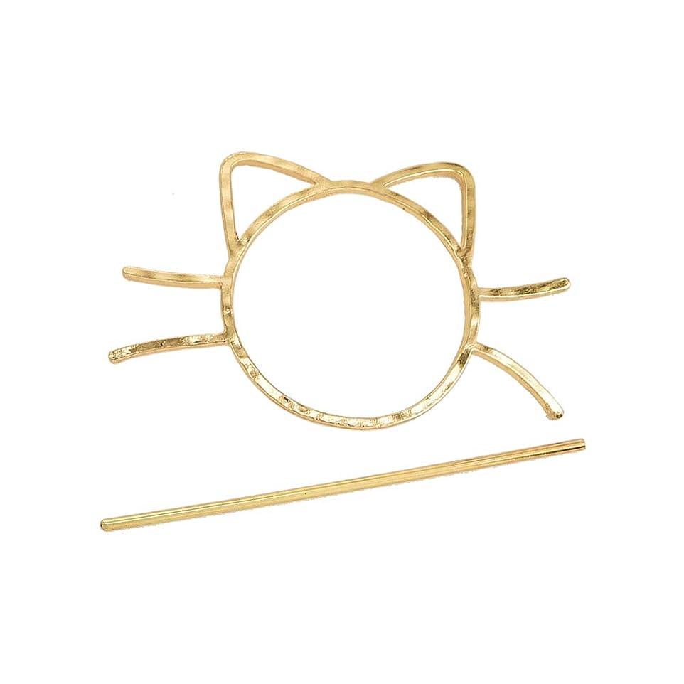 角度スパイ細断Beaupretty 猫ヘアスティックピン合金ヘア箸ヘアアクセサリーファッションヘアクリップ用女性女の子