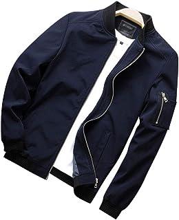 WanYangg Bomber da Uomo, Maschile Classics Casuale Light Bomber Giacchetto Jacket Leggero Colletto Dritto Cappotti Giacca ...