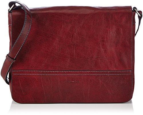 GERRY WEBER Lugano Flap Bag M 4080002894 Damen Umhängetaschen 29x22x7 cm (B x H x T), Rot (dark red 302)