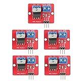 Controlador IRF520 5 uds 3,3 V/5 V IRF520 MOSFET Módulos de controlador Salida PWM Tarjetas de...