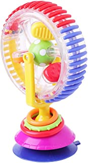 Three-Color Rotating Ferris Wheel, Baby Windmill Baby Dining Chair Cart Sucker Toy Feeding Helper