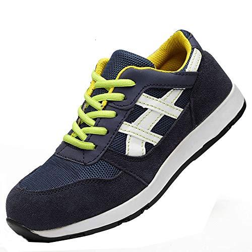 Shoe werkschoenen voor heren, ventilatie in de zomer, anti-puistjes, lichte stalen schoenen, geschikt voor bouw, lassen,