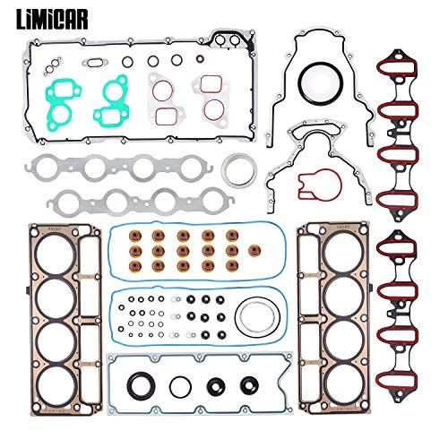 LIMICAR Cylinder Head Gasket Full Set Compatible with 2002 2003 2004 2005 2006 2007 2008 2009 2010 2011 Silverado Tahoe GMC Yukon Envoy Buick Cadillac 4.8L 5.3L