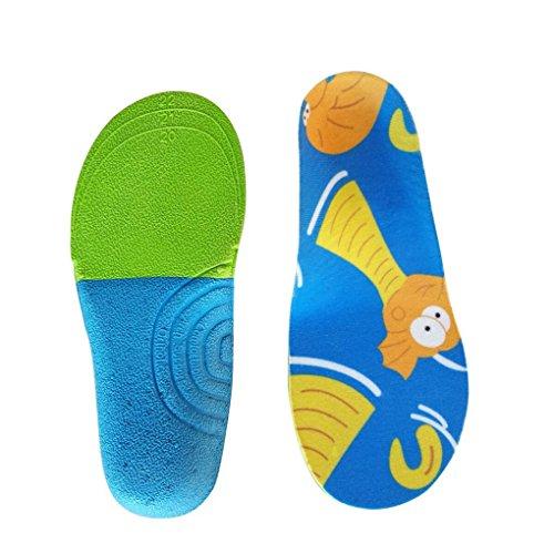 Boowhol Orthopädische Einlegesohle/Sport-Einlegesohlen Einlagen - Fußballen Plattfuß Fußkorrektur Bein Korrektur Einlegesohle für Kinder (S / 16.3cm / 23-25 EU)