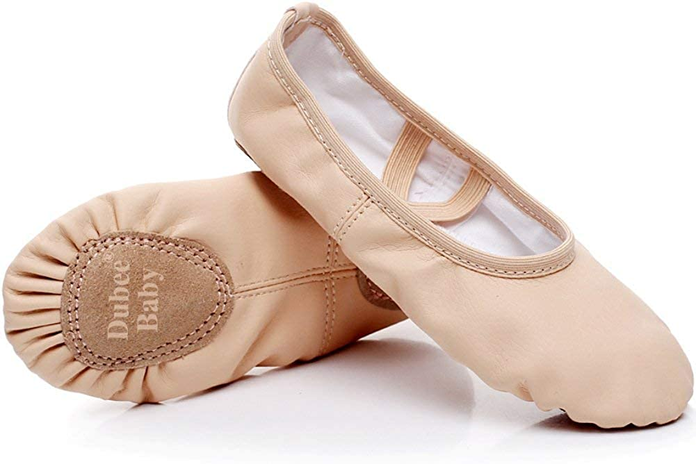 Toddler//Little Kid//Big Kid DubeeBaby Leather Ballet Shoes for Girls,Ballet Slippers Flats Dance Shoes