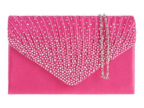 fi9 , Damen Clutch mehrfarbig fuchsia pink