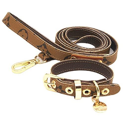 YTATY Juego de collar de perro, collar de correa para mascotas, collar de perro fuerte, ajustable, para entrenamiento de perros pequeños/medianos/grandes, caminar, correr (M,Estilo 7)