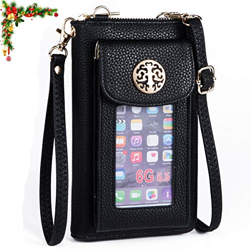 Heaye Crossbody Cell Phone Purse for Women Wristlet Wallet with Phone Holder Handbag