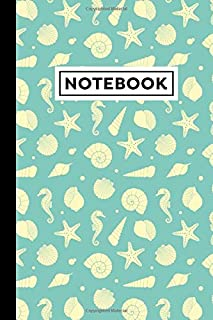 """Notebook: Marine Life Notebook - Marine Life Themed Gift For Marine Biologists, Sea Lovers And Aquarium Lovers - Marine Life Journal - 6"""" x 9"""" - 120 Lined Pages With Marine Life Themed Borders"""