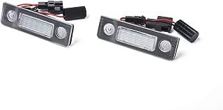 ROWEQPP 2pcs LED Number License Plate Light Lamp for Skoda Octavia Roomster