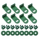 50 set di clip di fissaggio angolari per isolamento di reti solari con sistema di lavaggio dell'aria e rondelle