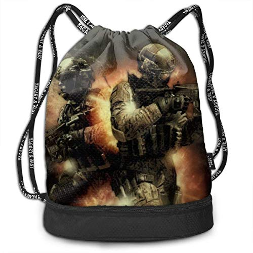 CallOfDuty Drawstring Bags Multifunktions-Bundle Bapa Large Caity Leichte, einfache, tragbare, lustige Handtasche für Frauen, Kinder, Schulgymnastik, Reisen (Polyester)