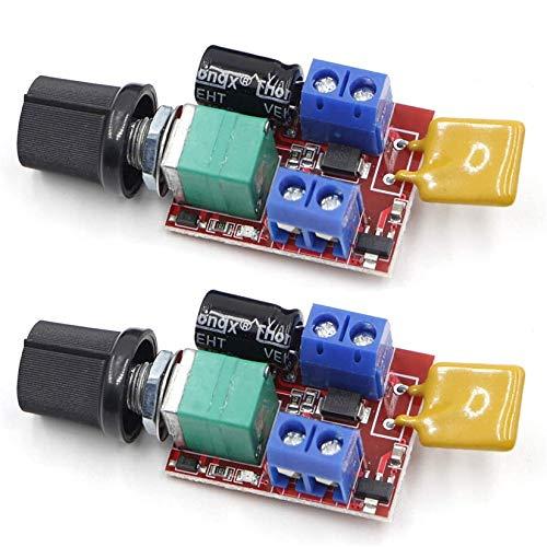 Riorand DC 3V 6V 12V 24V 35V 5A Motor Speed Controller PWM Speed Control Ultra Small LED Dimmer(2PCS)