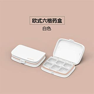 XZHMYYH Medicine box Nordic food grade forty-six kit removable storage box grid portable small kit drugs (Color : 6 lattice White)