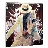 KEROTA Michael Jackson Duschvorhang 3D-Druck Polyesterfaser Wasserdicht Duschvorhang keine Verformung schnell trocknend 12 Kunststoff (167,6 x 182,9 cm)
