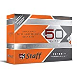 Wilson Staff Fifty Elite Golf Balls, Orange, Pack of 12