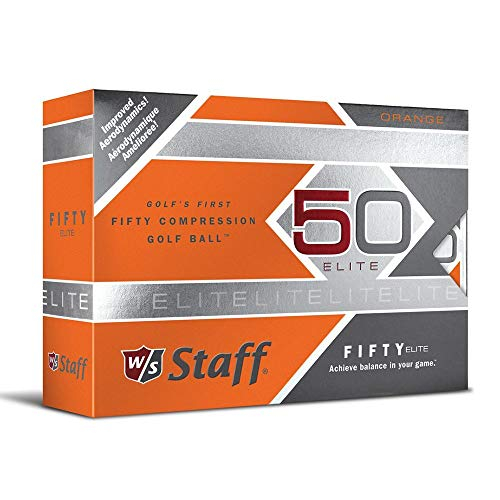 Wilson Staff Erwachsene Golfbälle Fifty Elite, Orange, One size