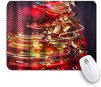 ZOMOY マウスパッド 個性的 おしゃれ 柔軟 かわいい ゴム製裏面 ゲーミングマウスパッド PC ノートパソコン オフィス用 デスクマット 滑り止め 耐久性が良い おもしろいパターン (メリークリスマスカラフルなツリージオメトリストライプちょう結びジングルベル)