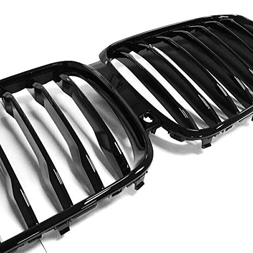 2019 2020 2021 Glossy Black Kidney Grille Compatible with BMW X5 G05 Performance Style Grill Front Hood Insert Replacement