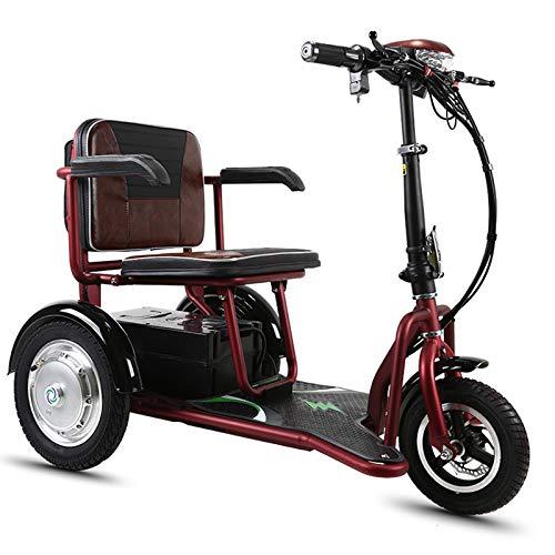 QCKDQ 3-Rad-Faltbare Elektro-Dreirad, Unterstützung 331 Lbs Gewicht, Ältere/Behinderte/Outdoor-Reisen Elektroroller Für Reise, Erwachsene, Ältere Menschen,35km