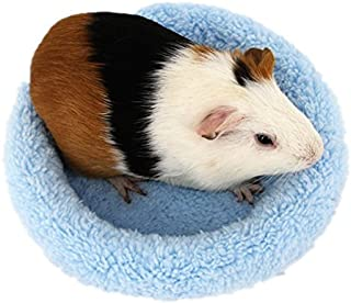 BWOGUE Hamster Bed,Round Velvet Warm Sleep Mat Pad for Hamster/Hedgehog/Squirrel/Mice/Rats and Other Small Animals