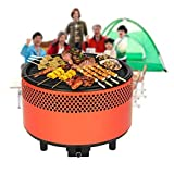 SGODDE Portable Smokeless Charcoal BBQ Grill, Compact Barbecue Grill -...