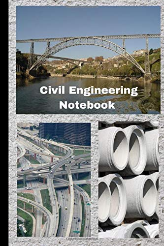 Civil Engineering Notebook: Blank notebook with dot grid pages and other lined pages for civil engin