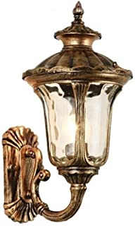 Retro Rustic Nordic Outdoor Wall Light Waterproof Die-cast Aluminum Hammering Glass Lantern Vintage Industrial Wall Lamp E...