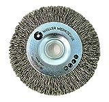 Drahtbürste Bürste Reinigungsscheibe passend für Bosch GWS 10,8 12V 76 Zubehör Stahl Edelstahl Holz Schleifscheiben