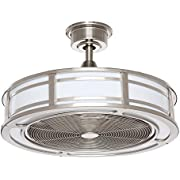 Home Decorators Collection Brette 23 in. LED Indoor/Outdoor Brushed Nickel Ceiling Fan